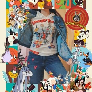 Bedazzled Looney Tunes shirt 🐰❤️